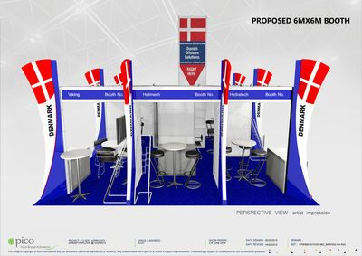 The layout of the stand at OGA 2015